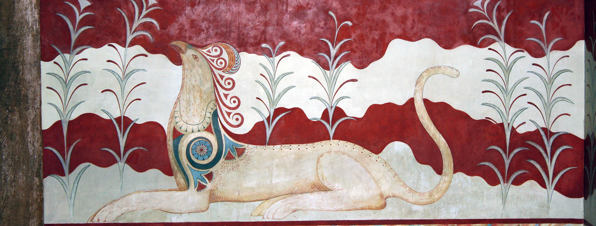 Griffin, fresco at the Minoan palace of Knossos, Heraklion