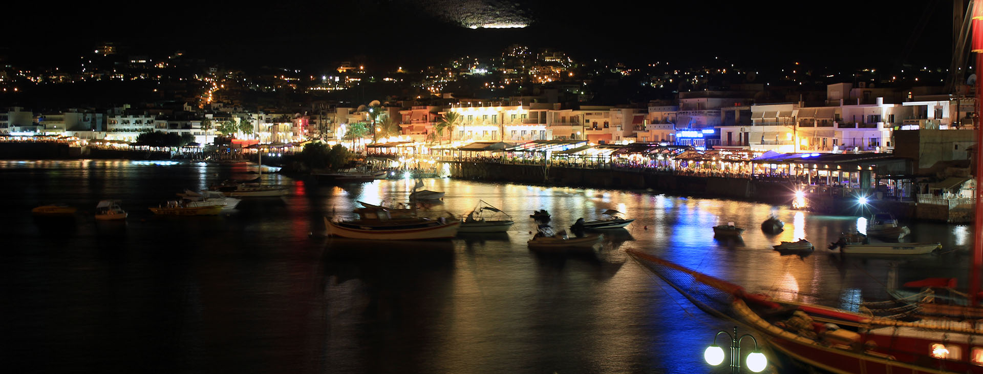 Hersonissos by night, Heraklion