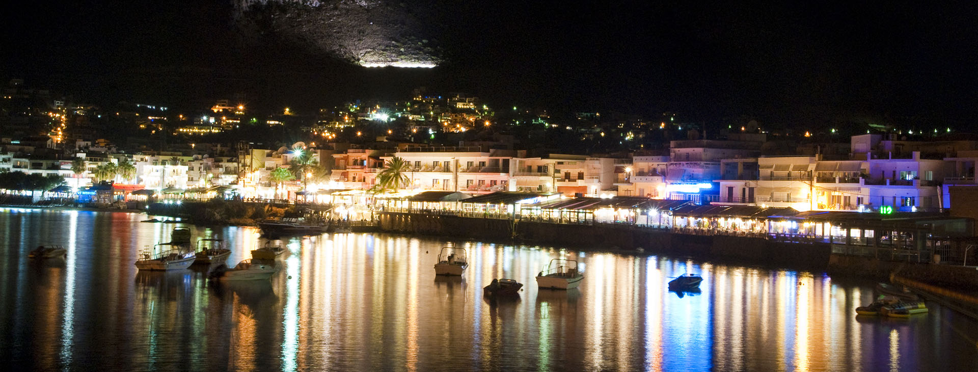 Hersonissos by night, Heraklion
