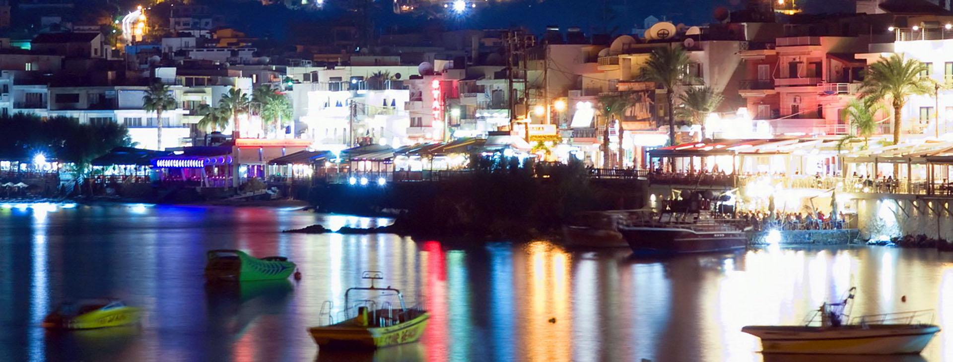 Malia by night, Heraklion