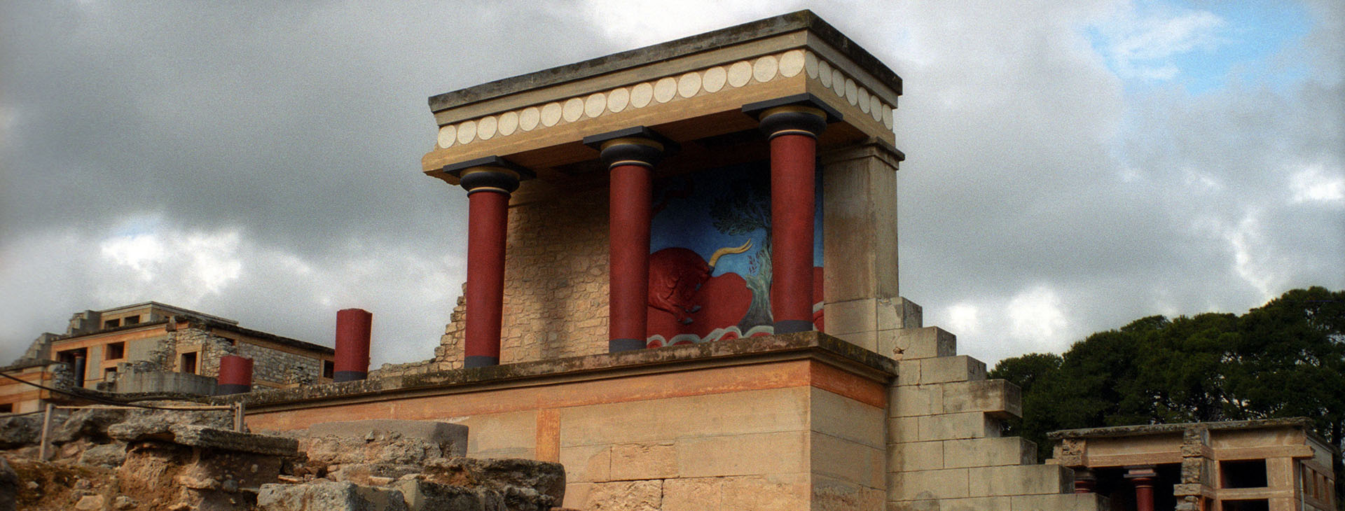 The Minoan palace at the archaeological site of Knossos, Heraklion