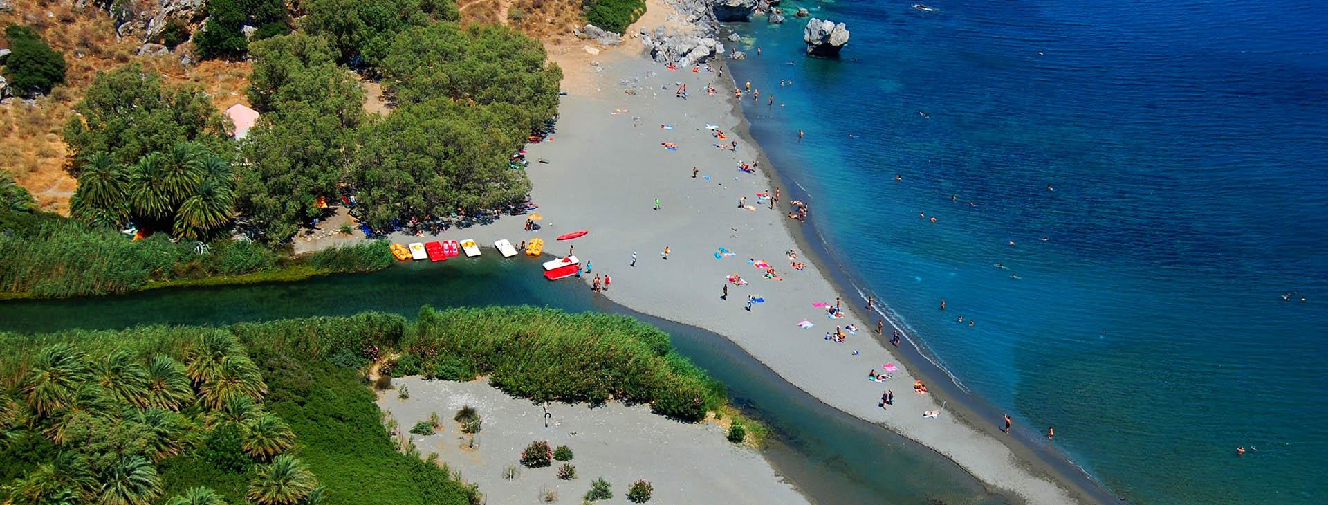 Megalopotamos river and Preveli beach, Rethymnon