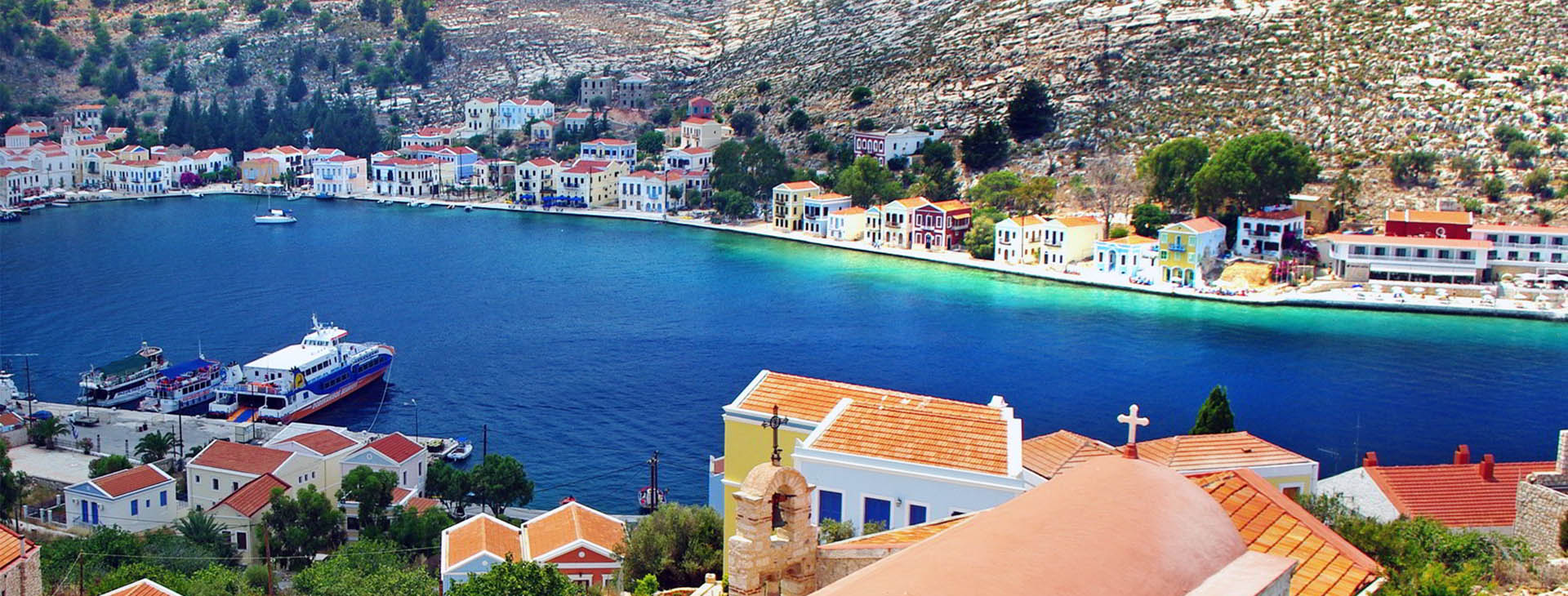 Port of Kastellorizo isle, Dodecanese islands