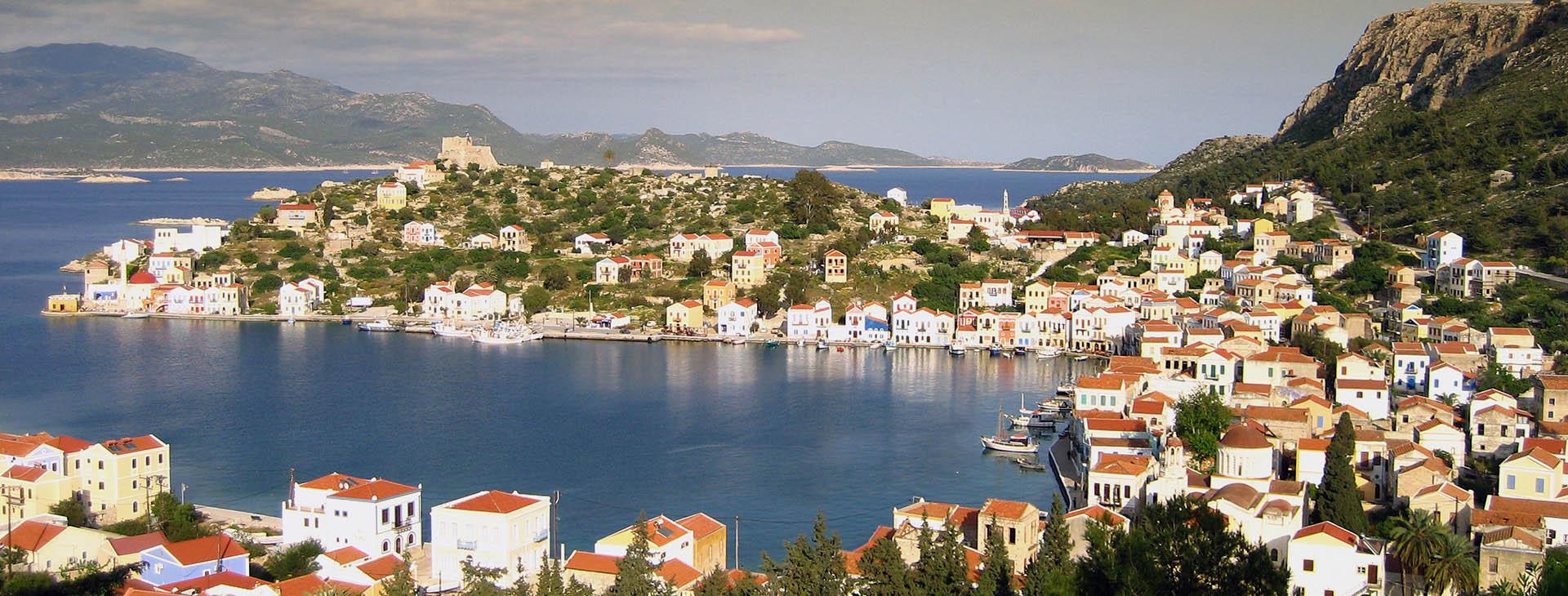 Port of Kastellorizo isle, Dodecanese islands