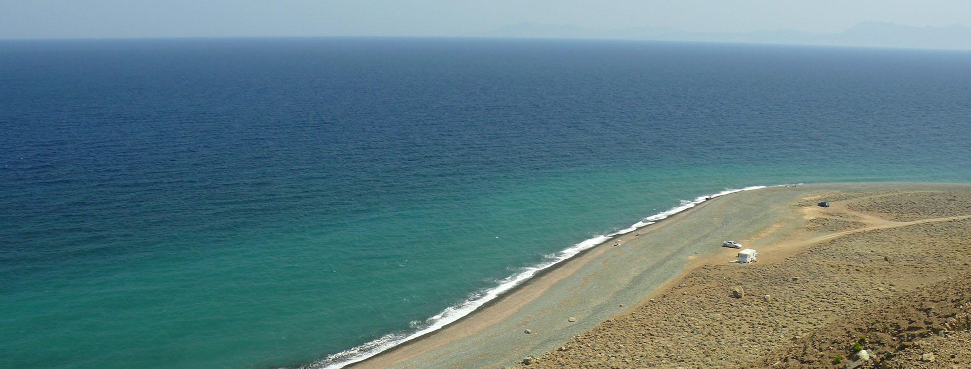 Beach at Samothrace island