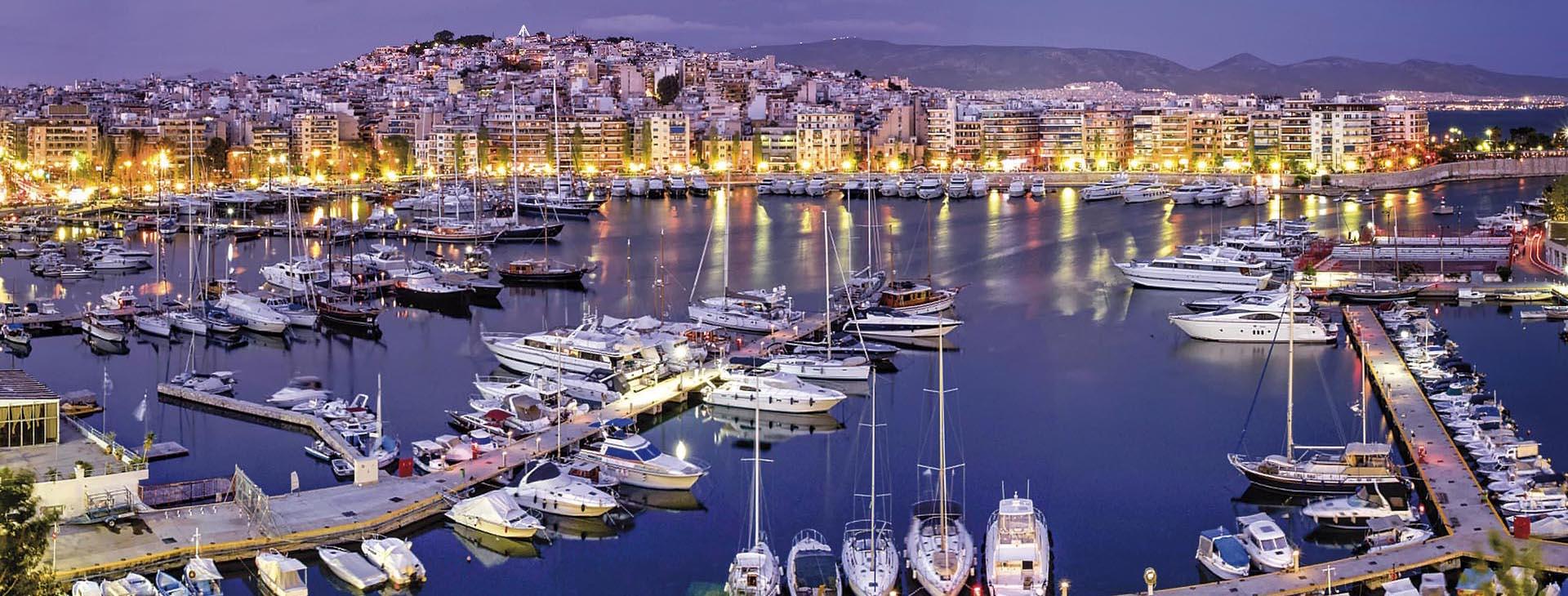 Sail boats at Piraeus marina