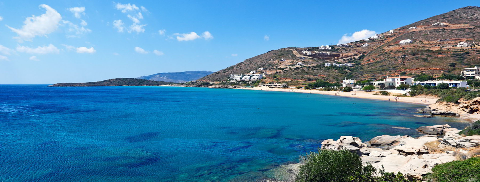 Beach at Andros island