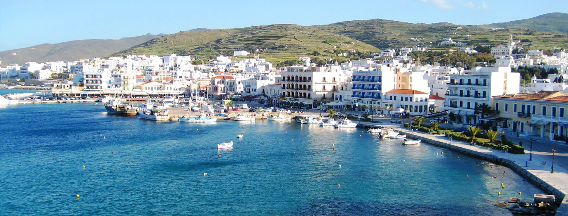 Harbour, Tinos town