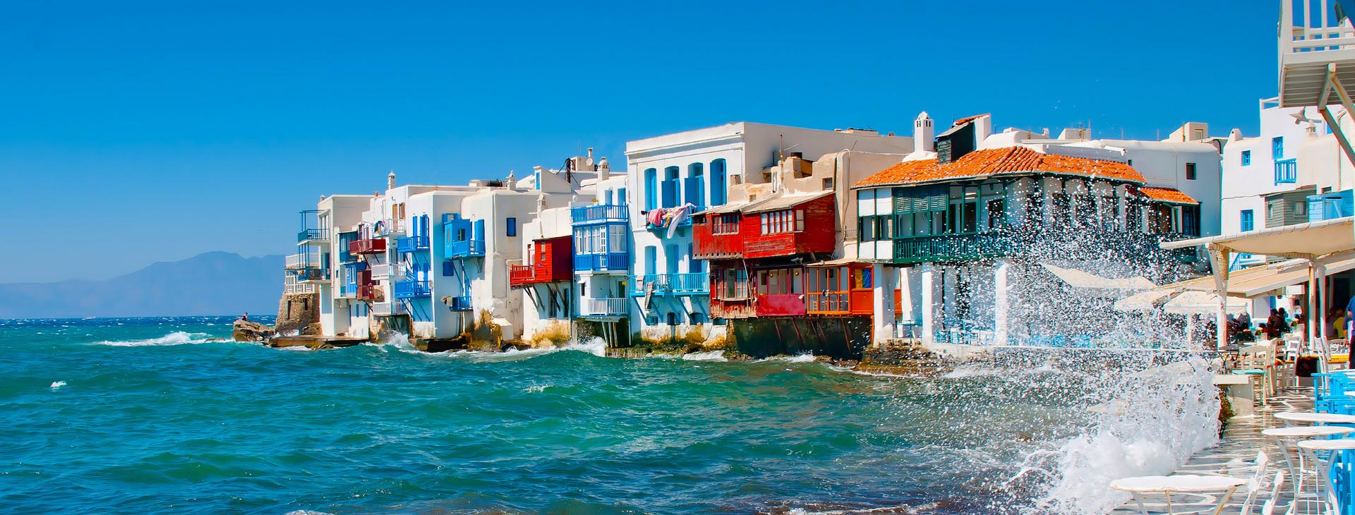 """Little Venice"" at Mykonos island"
