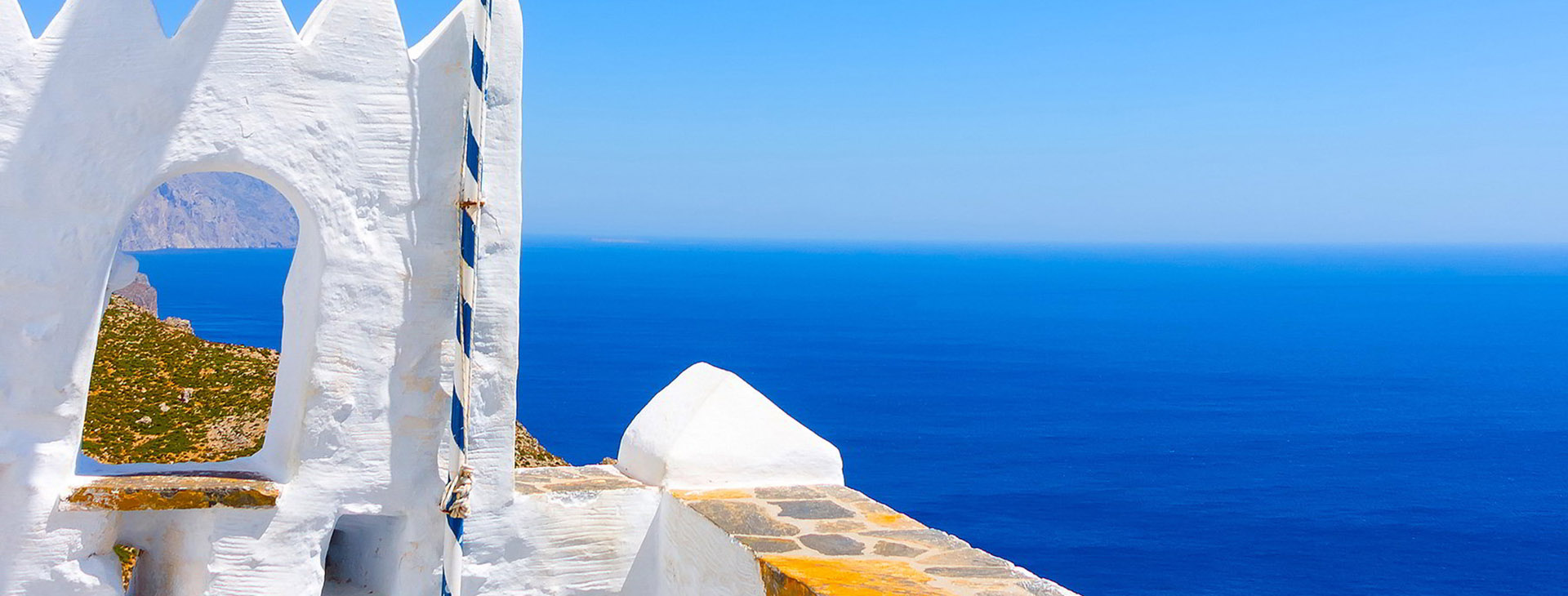 View of the Aegean Sea from the Monastery of Hozoviotissa, Amorgos island