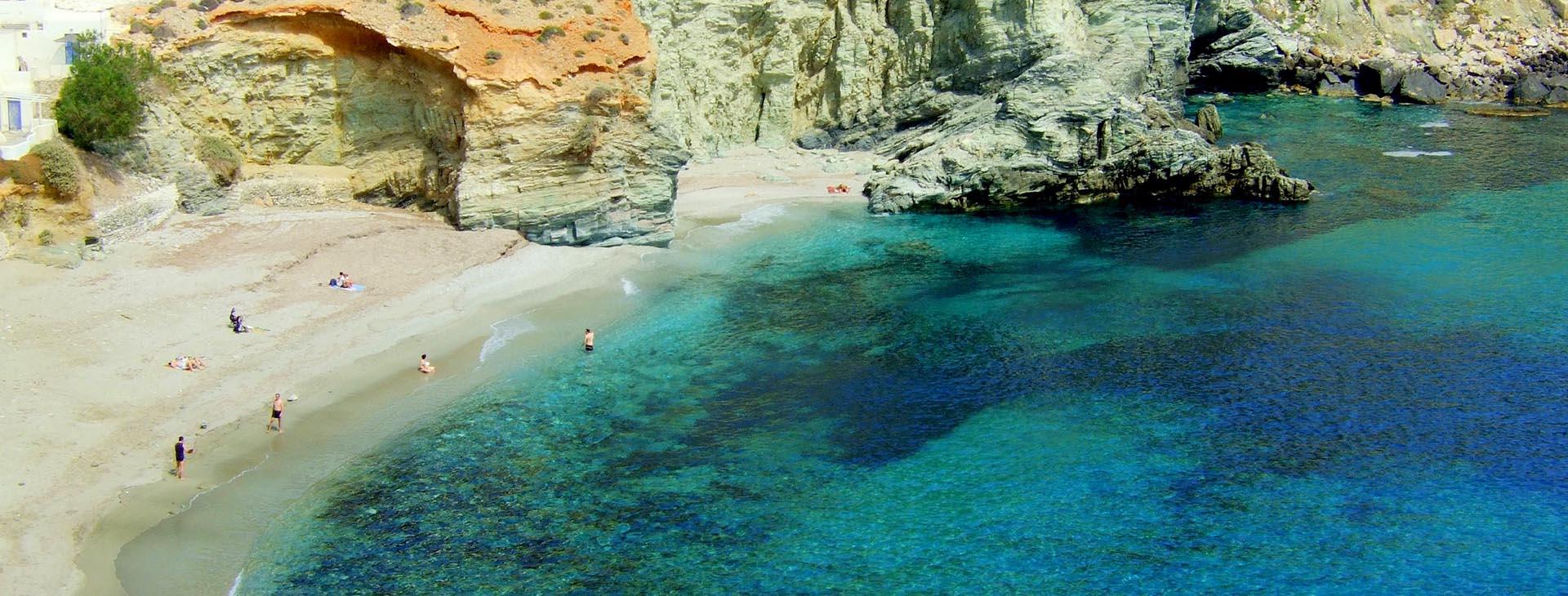 Agkali beach at Folegandros island