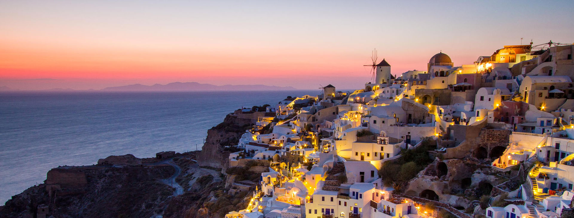 Sunset at Santorini island