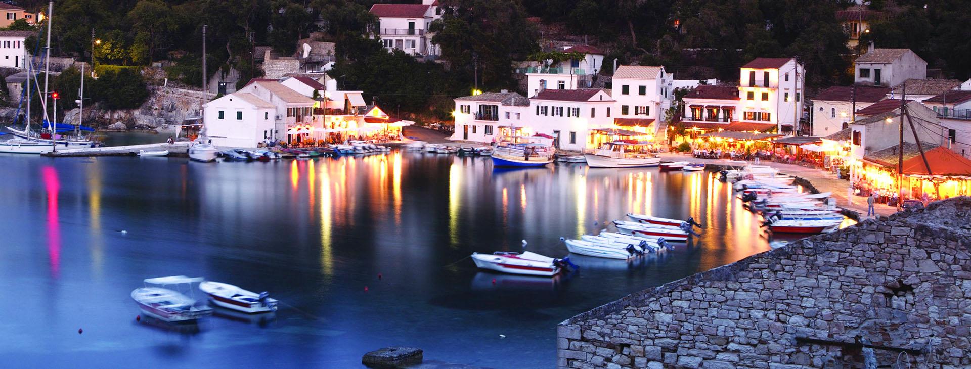 Loggos harbour, Paxi island