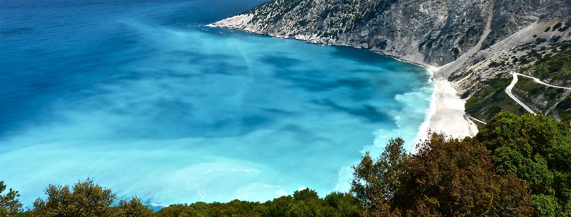 Myrtos beach on Kefalonia island