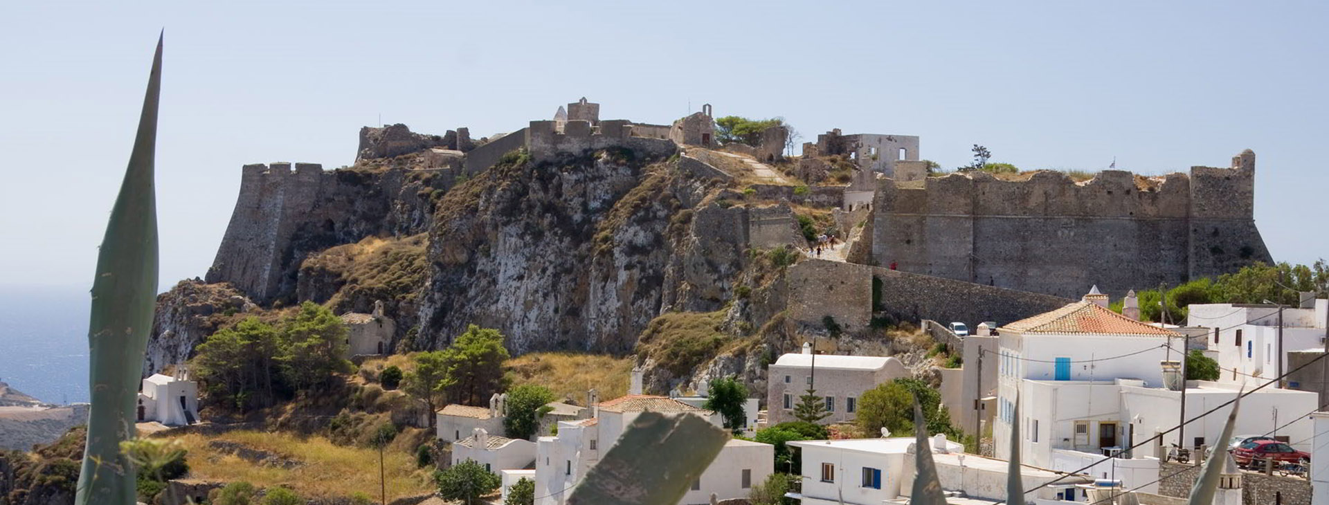 The castle of the capital town (Chora) of Kythira island