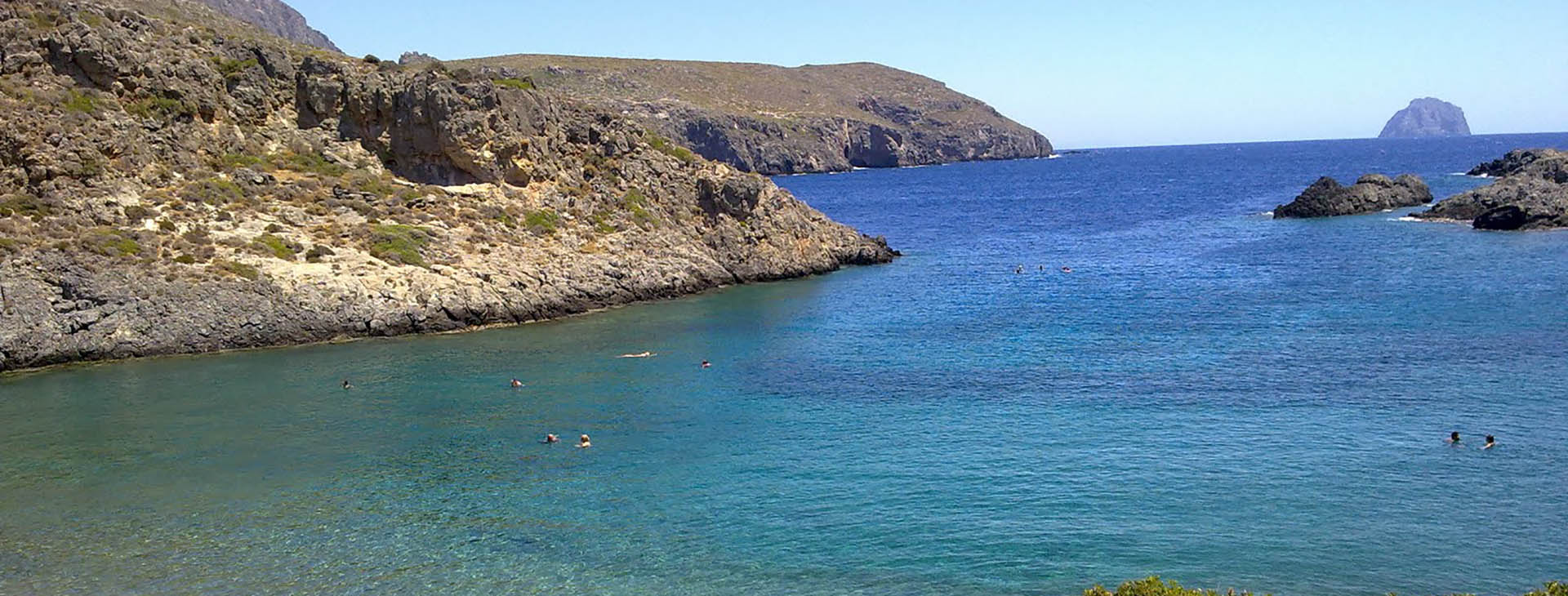 View of the islet Hytra from Melidoni beach, Kythira island