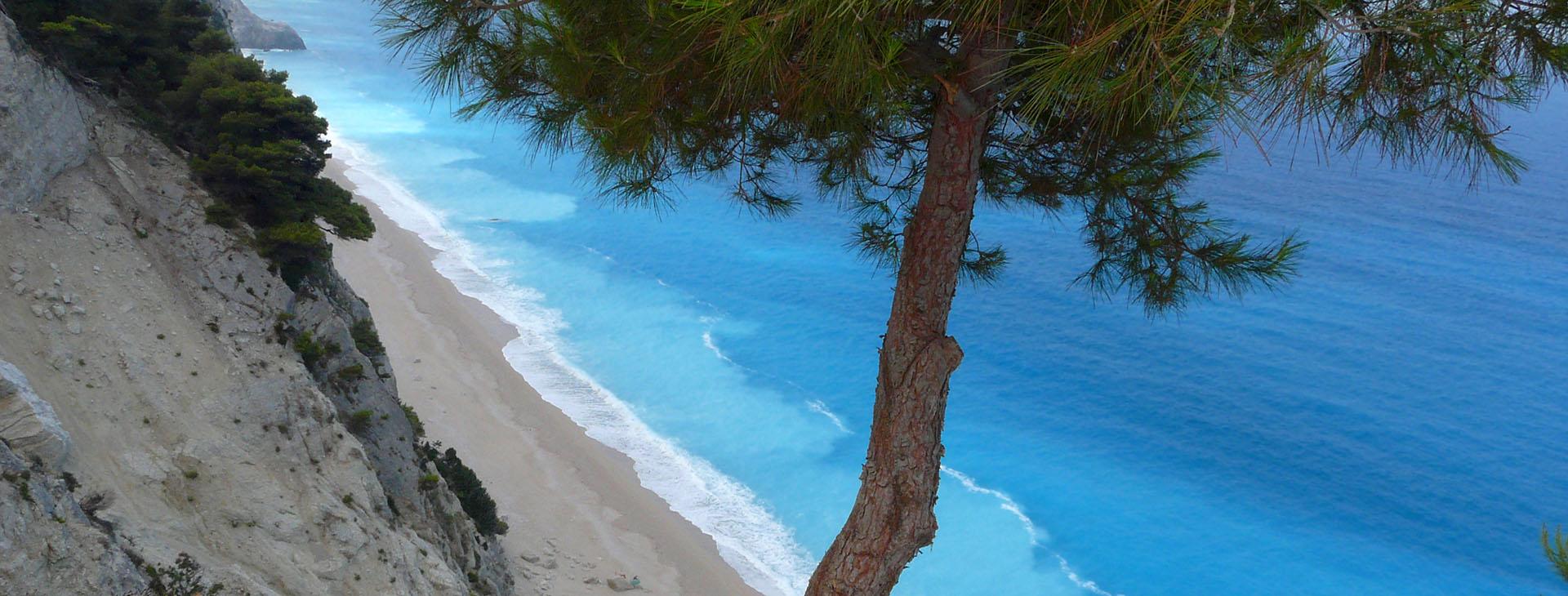 Beach at Lefkada island