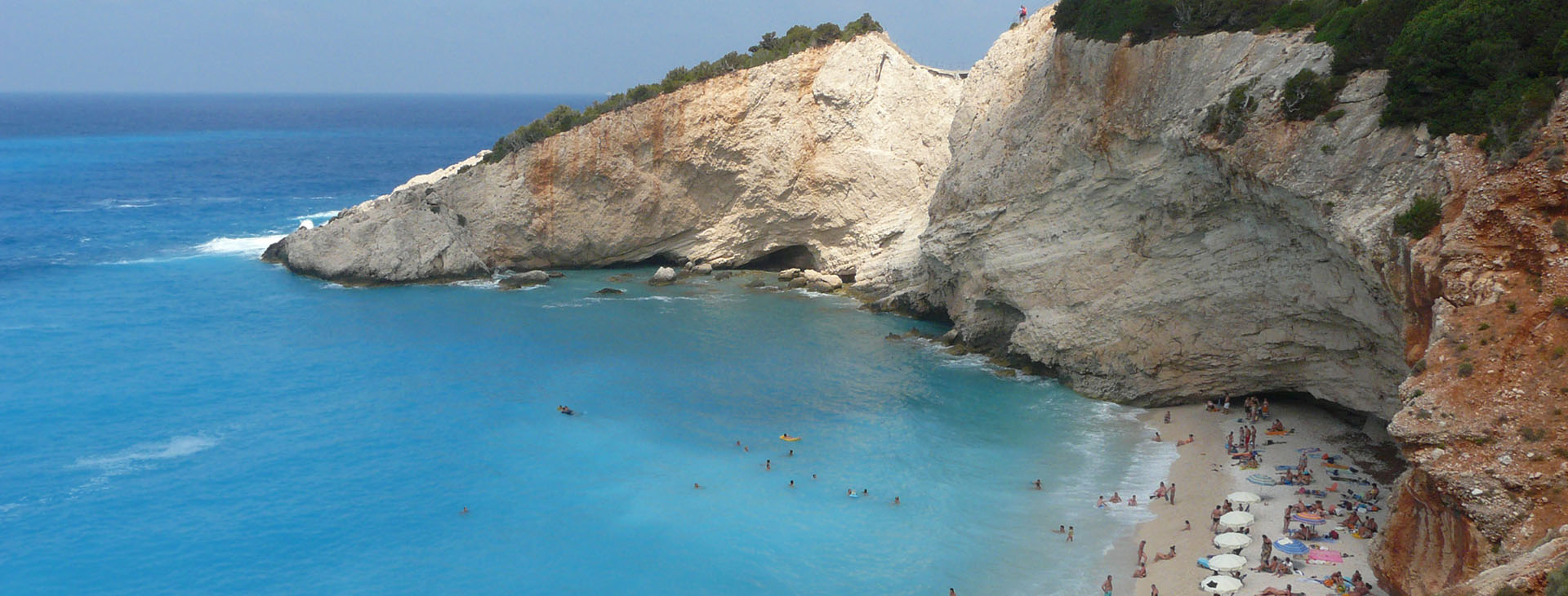 Porto Katsiki beach on Lefkada island