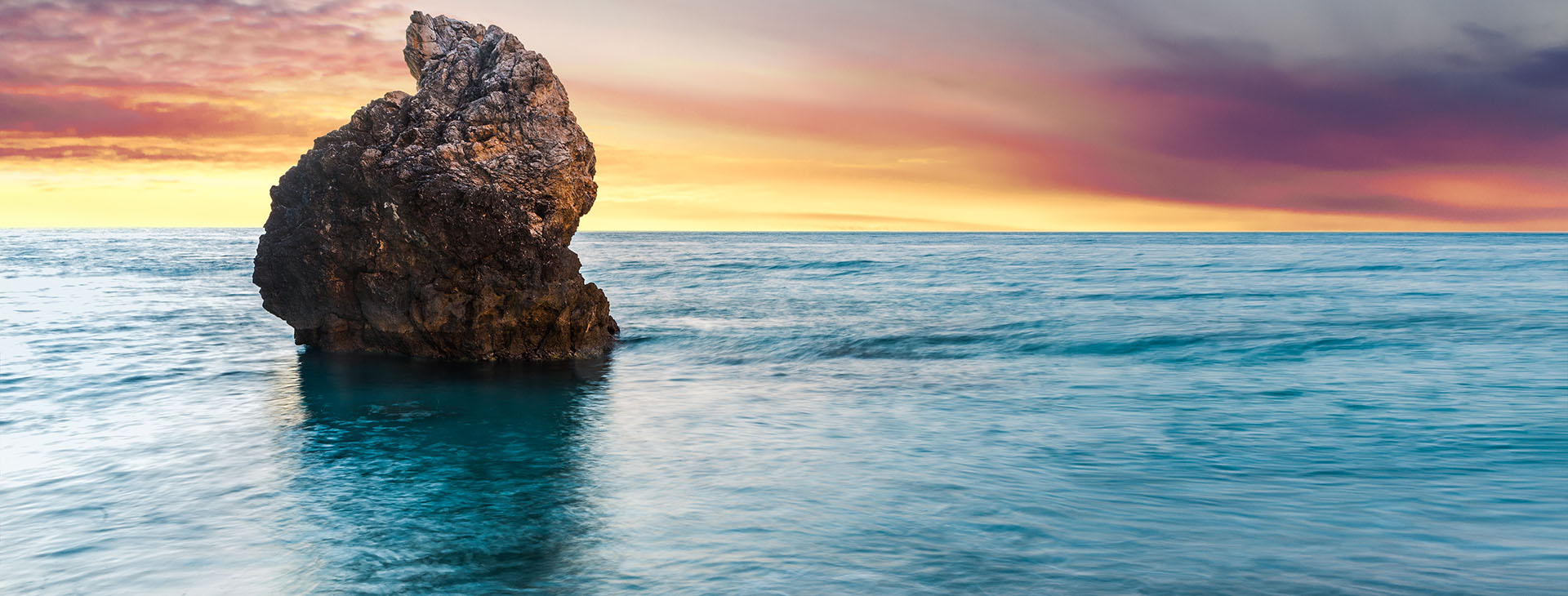 Sunset at Milos beach on Lefkada island