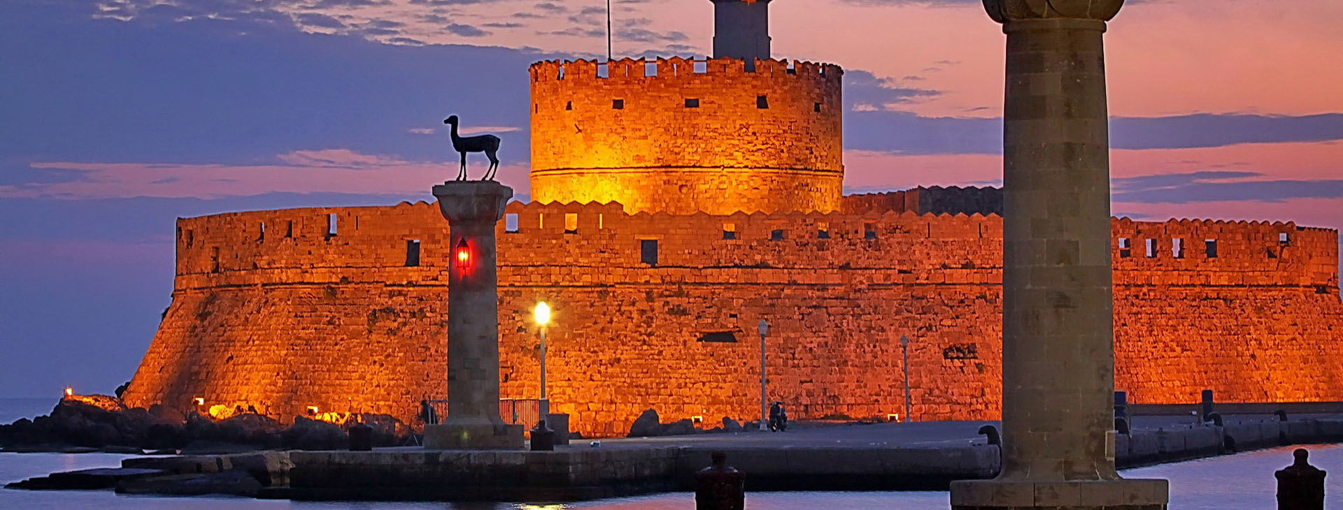 The harbour of Rhodes island