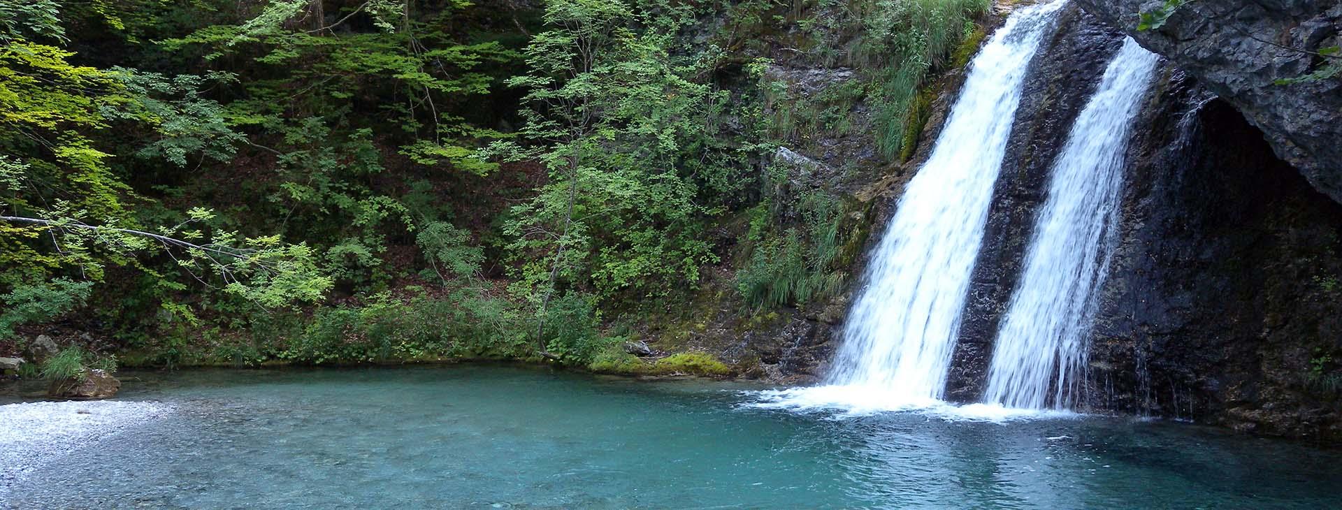 Waterfalls at Enipeas Gorge, Mt. Olympus, Pieria