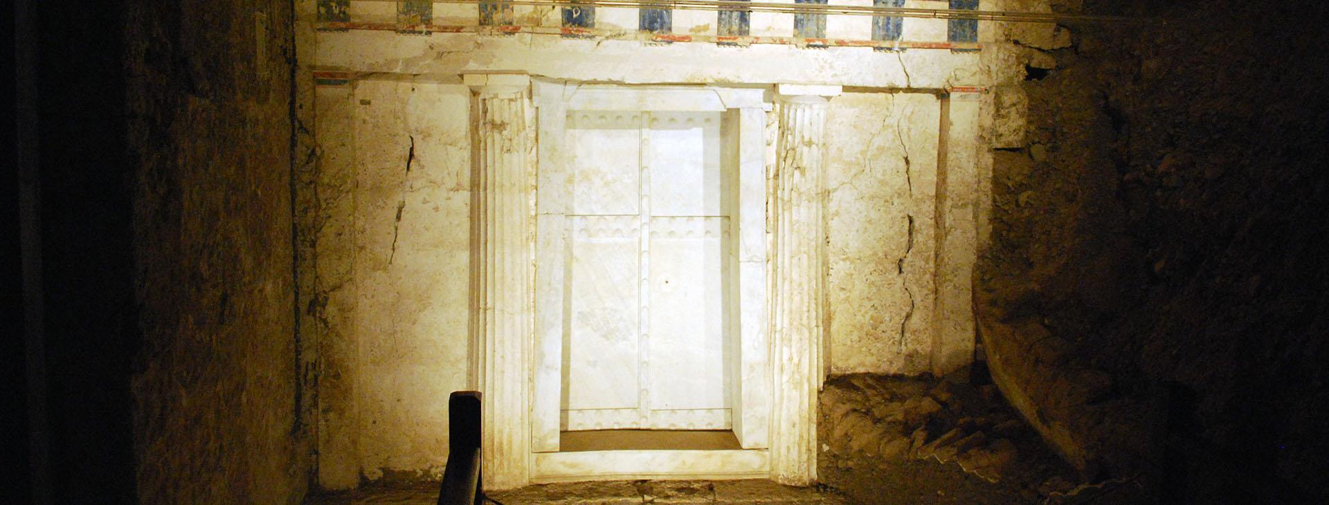 Facade of Philip II tomb, Vergina, Imathia