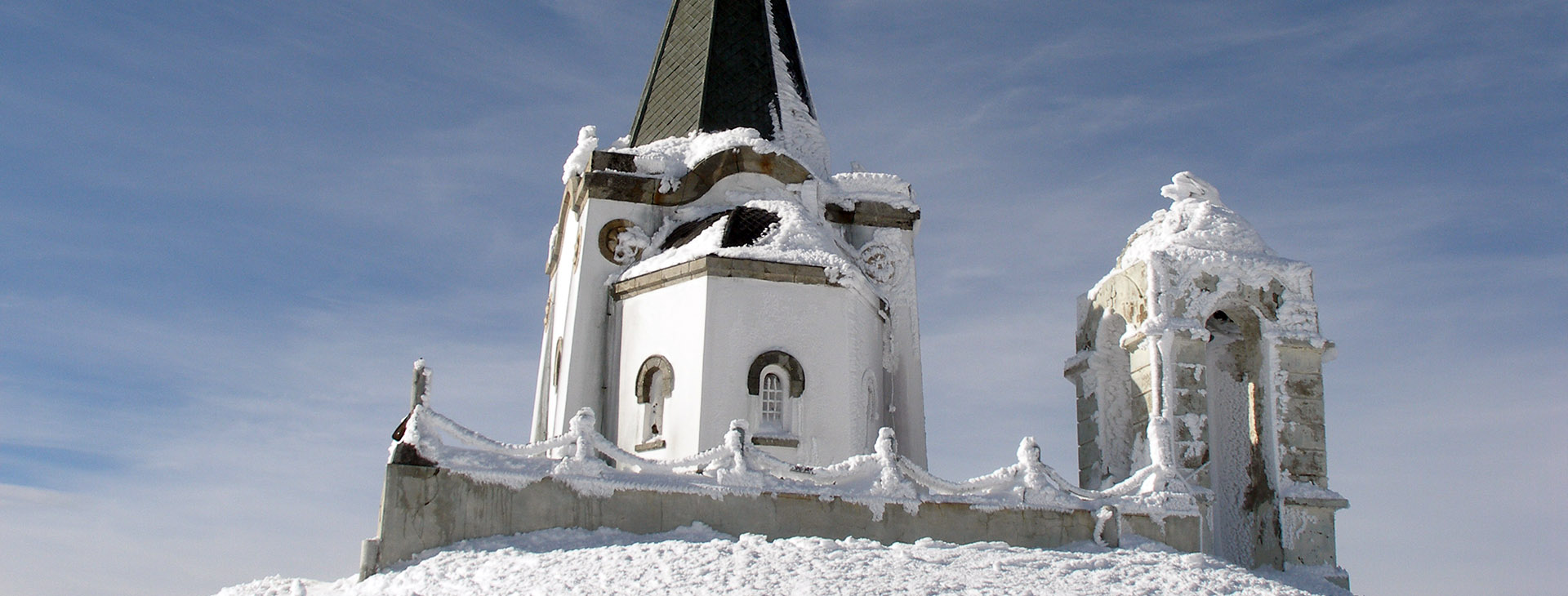 Profitis Ilias church at the peak of Mt. Kaimaktsalan, Pella