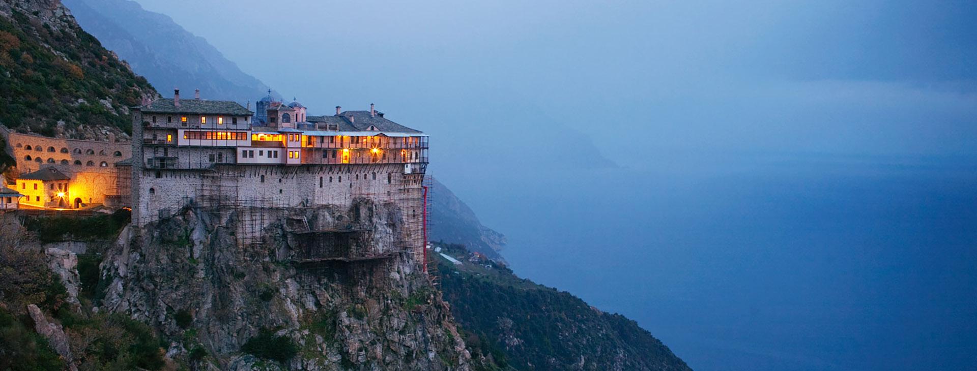 Simonos Petras Monastery, Mt. Athos, Halkidiki (Chalkidiki)