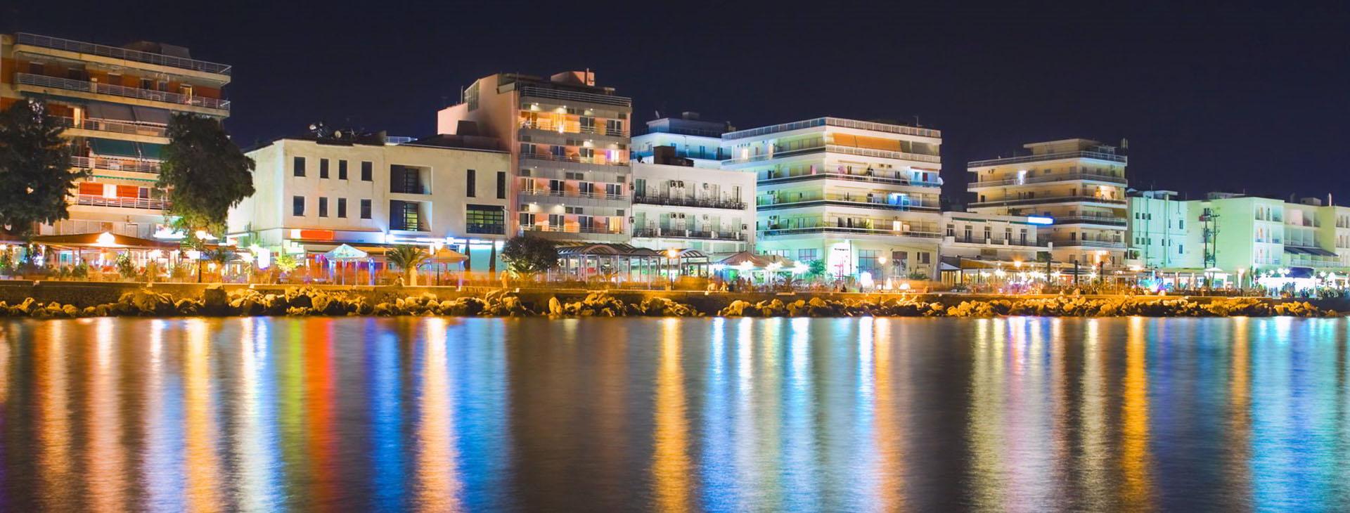 Loutraki by night, Corinthia