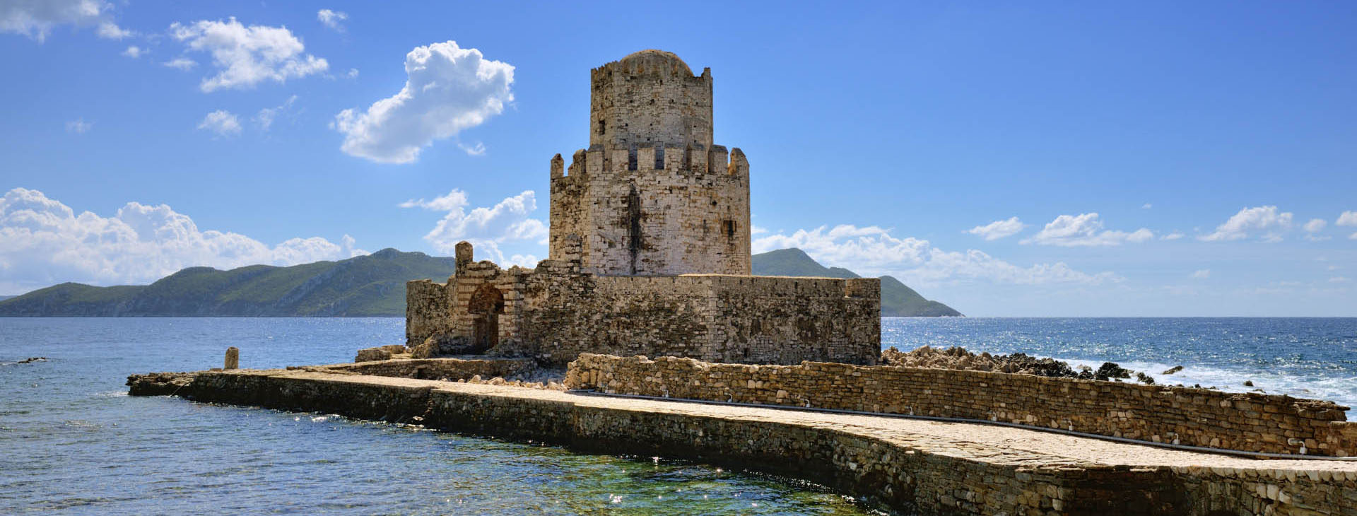 Bourtzi at south of the Methoni castle, Messinia