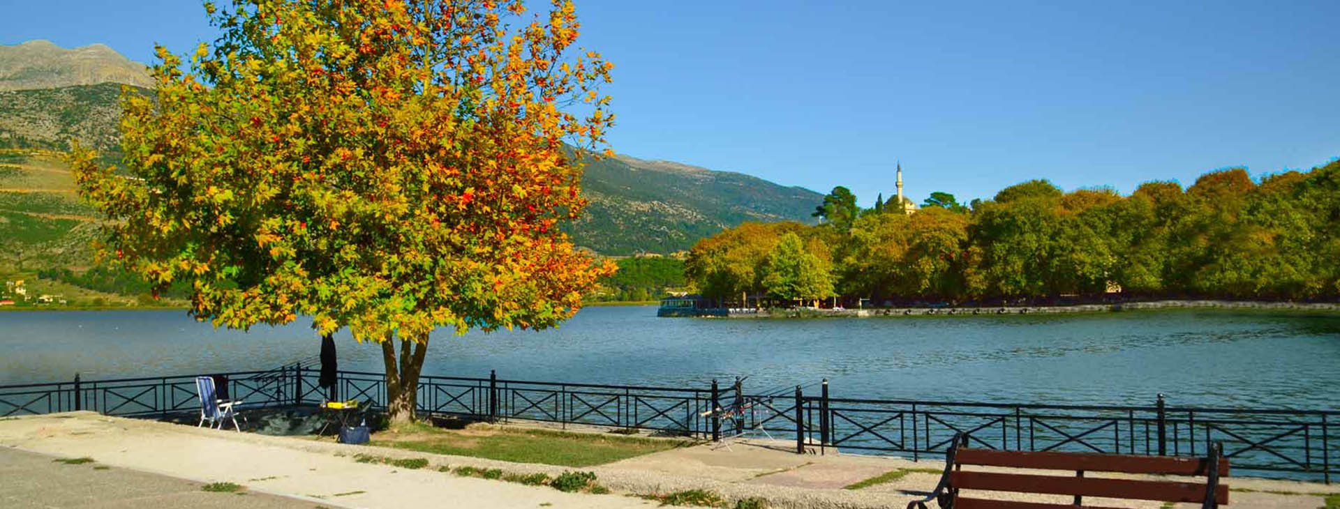 Pamvòtis lake, Ioannina city