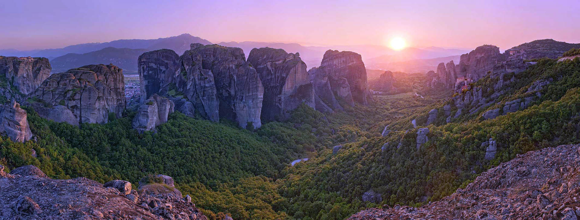 Sunset at Metéora, Trikala