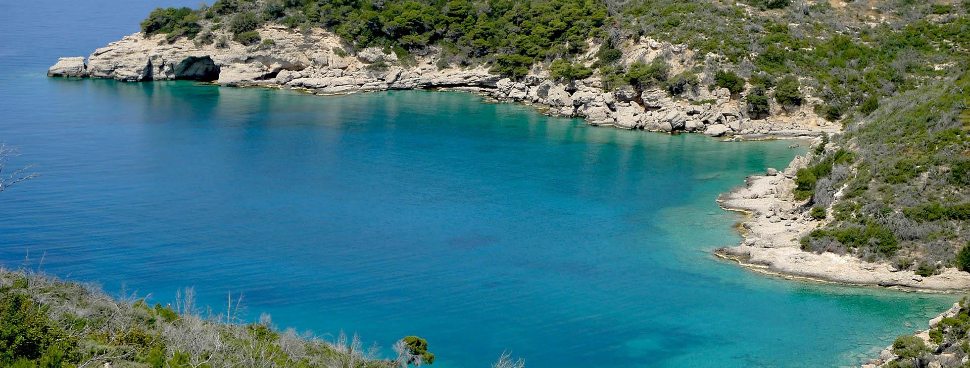 Beach at Spetses island