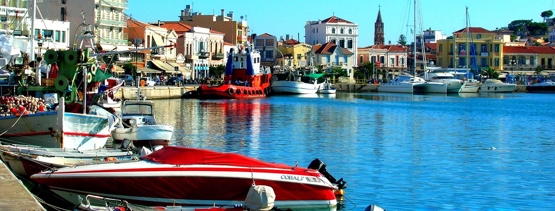 Mytilene harbour, Lesvos island