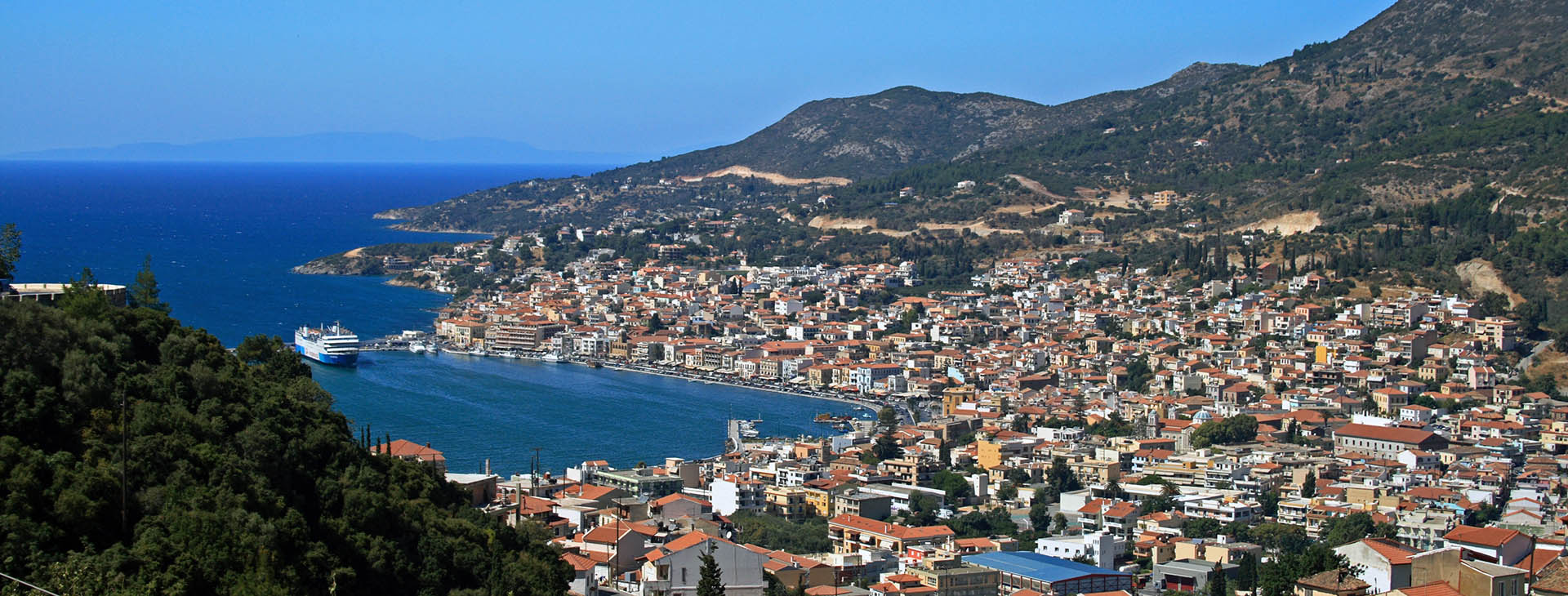 Vathy, capital of Samos island