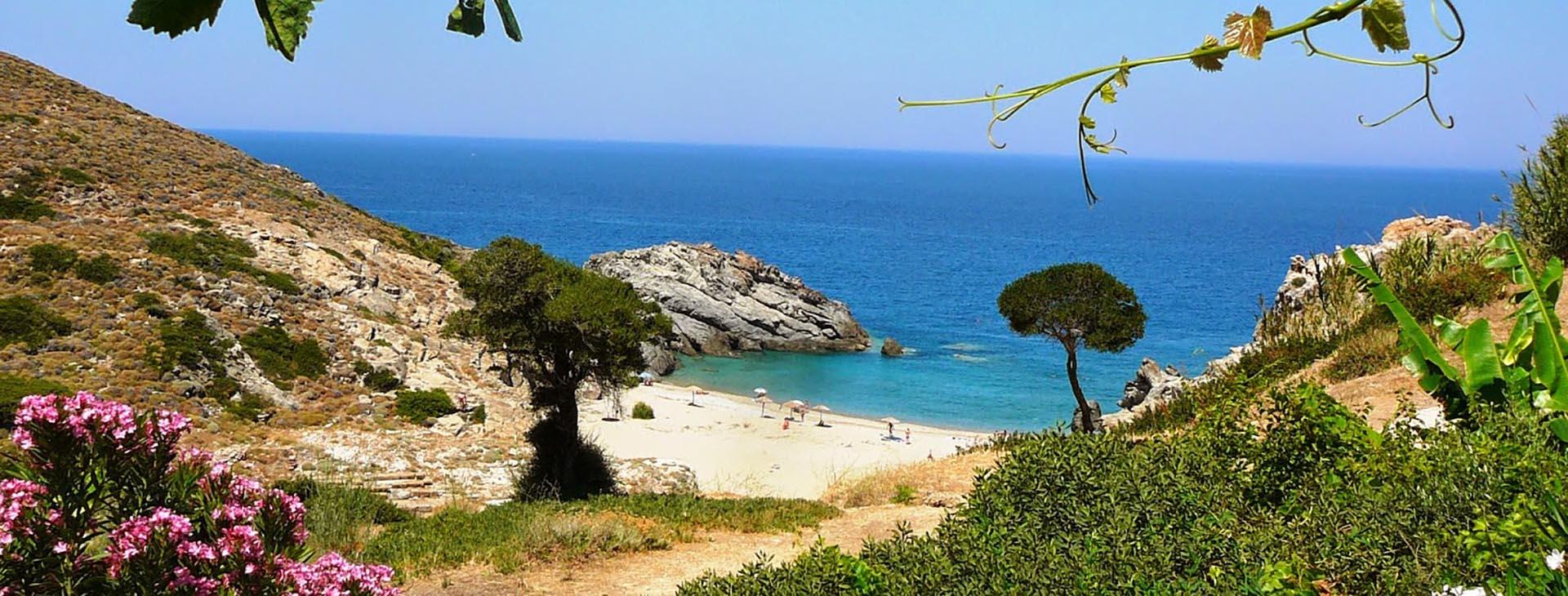 Beach at Ikaria island