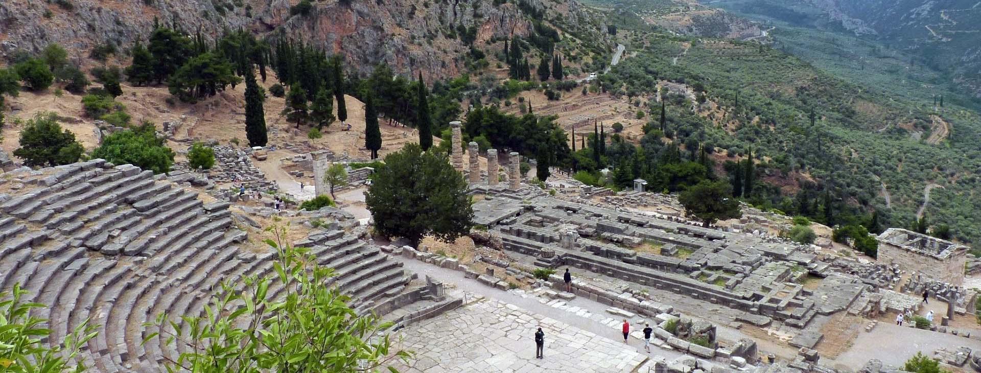 Delphi - Ancient Theatre & Apollo Temple, Fokis