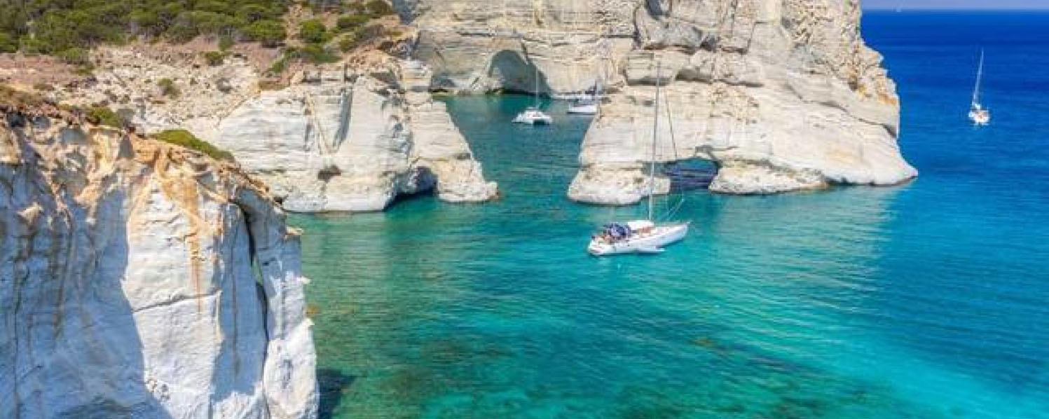 Day Cruise of Milos with a Sailing Yacht