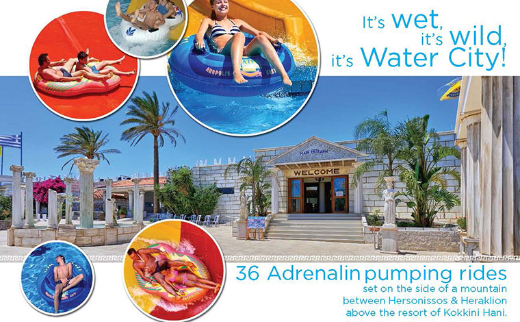 WaterCity water park from Elounda / Agios Nikolaos / Ierapetra