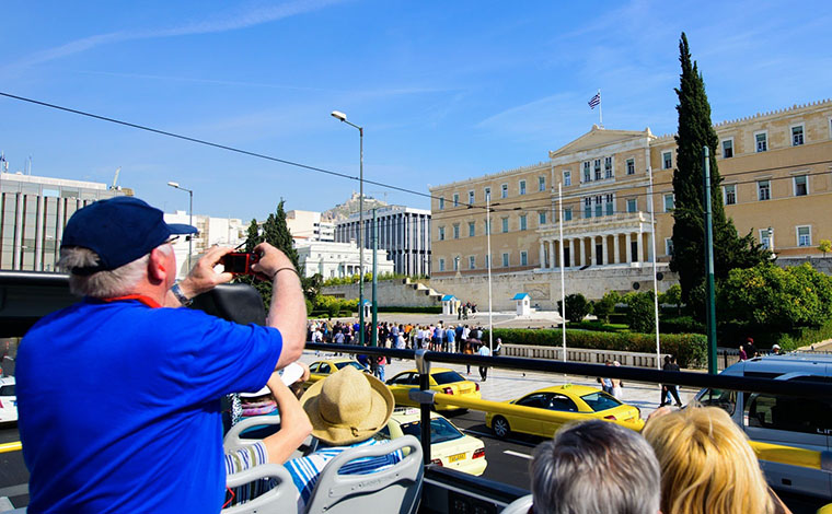 Classic tour of Athens on Open Top bus