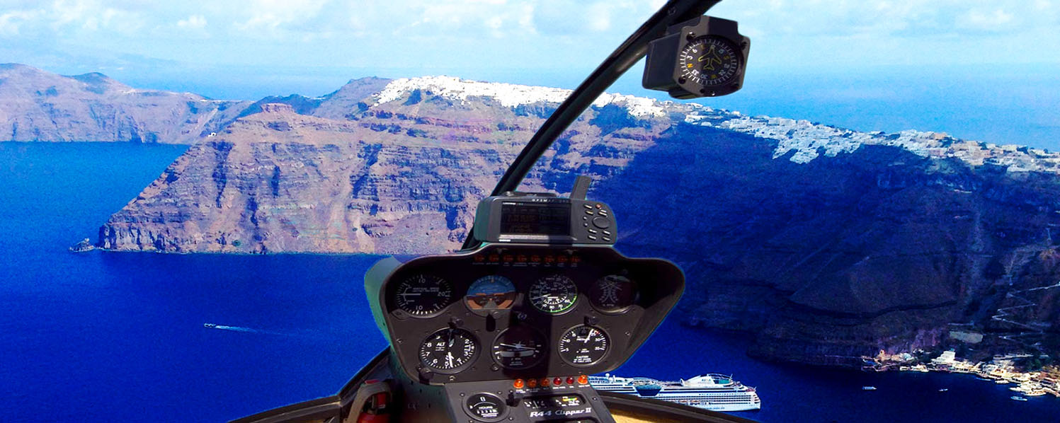 Helicopter Tour of Santorini Sighteeing 15 minutes